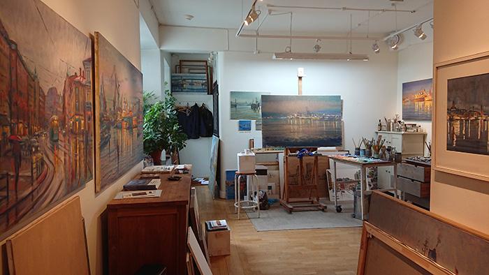Bjerkås Ateljé, Carl Bjerkås, Göteborgskonstnär