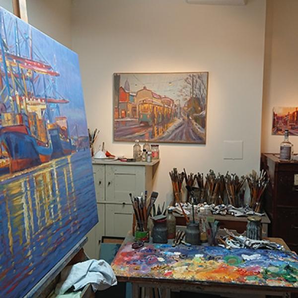 Carl Bjerkås ateljé konstnär