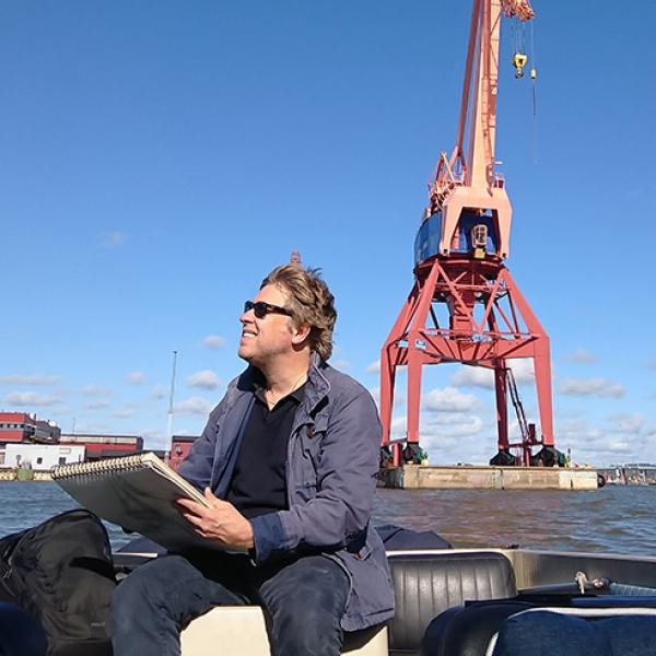 Carl Bjerkås Konstnär Göteborgs hamn