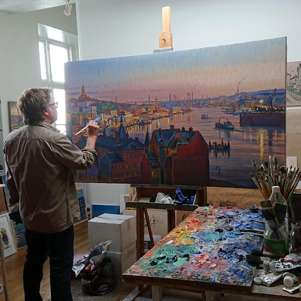 Carl Bjerkås, Göteborgskonstnär