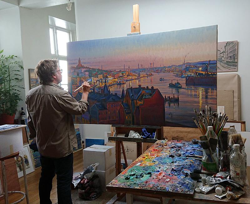 Göteborgskonstnär Carl Bjerkås